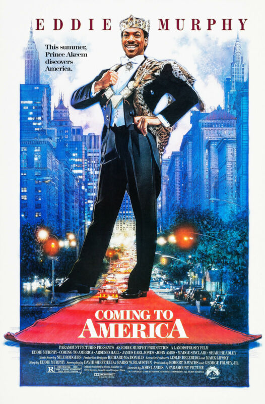 COMING TO AMERICA (1988) ORIGINAL MOVIE POSTER  - ROLLED -  DREW STRUZAN ARTWORK