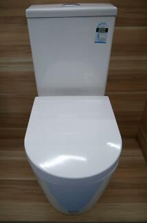 New Castano Rossi Back To Wall Toilet Suite P-S Trap Bottom Rear