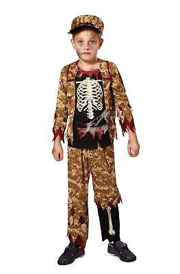 Skelett Junge Soldat, Klein, Halloween, Jungen (oder Mädchen - Kleiner Junge Skelett Kostüm