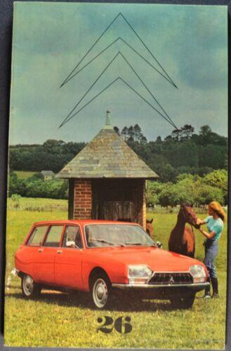 1972 Citroen Brochure GS Estate Car Wagon DS-21 2CV English & French Original 72