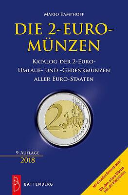 DIE 2 EURO MÜNZEN Katalog der Umlauf und Sondermünzen Münzkatalog Buch 2018 NEU
