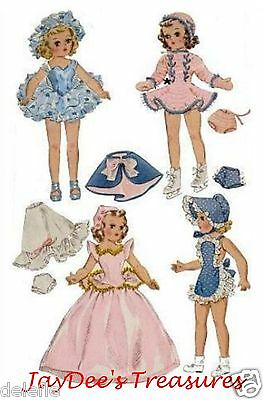 1564 Vintage Doll Clothes Pattern 14 inch Mary Hoyer