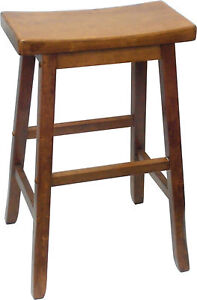 Swan ST Kitchen Breakfast BAR STOOLS Timber Wooden BARSTOOL Pagoda 68cm High OAK