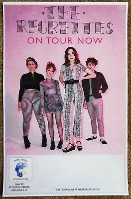 THE REGRETTES 2018 Tour  POSTER Attention Seeker Gig Concert