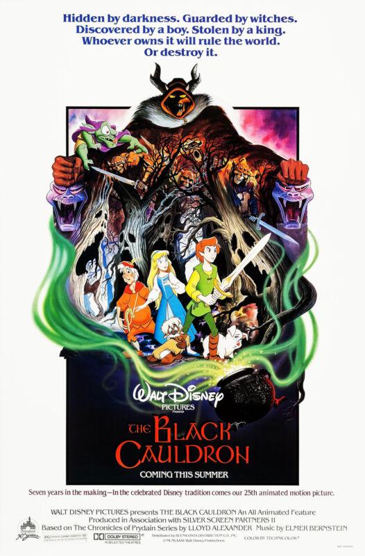 THE BLACK CAULDRON (1985) ORIGINAL MOVIE POSTER  -  ROLLED