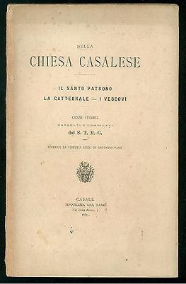 MININA GIOVANNI DELLA CHIESA CASALESE TIP. PANE 1887 CASALE ALESSANDRIA PIEMONTE