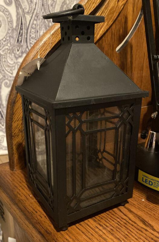 New Primitive Farmhouse Lantern Tea Light Candle Holder Tin