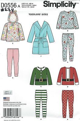 Simplicity 8224 Toddlers' Robe, Knit Pants and Tops Sewing Pattern