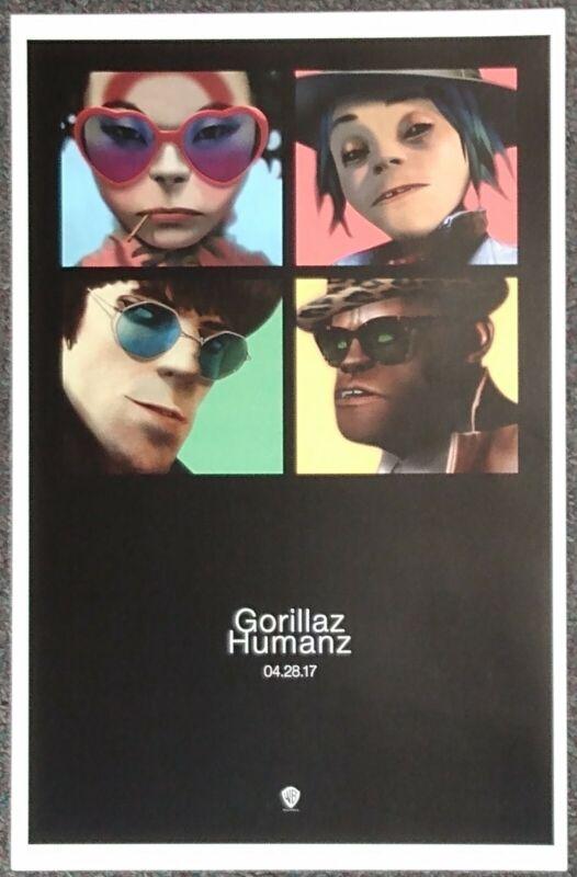 Gorillaz Humanz 2017 PROMO POSTER