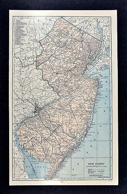 c1930 Hammond Railroad Map - New Jersey - Trenton Philladelphia New York City RR