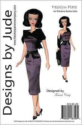 Fashion Plate Doll Clothes Sewing Pattern Silkstone Barbie Dolls