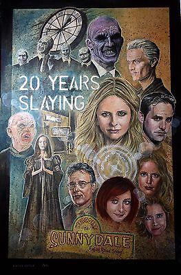 Limited Edition Buffy Posters (250) Signed By Nicholas Brendon