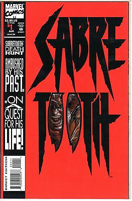 Sabretooth Cover (SABRE TOOTH #1 Marvel Diecut Cover Comic Book)