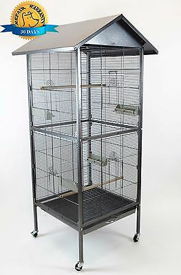 New Large Metal Parrot Finch Cockatiel Macaw Cockatoo Bird Pet Cage Crate House