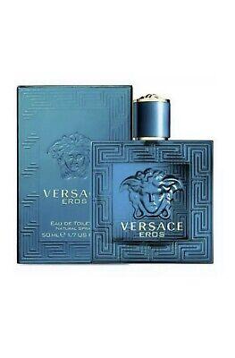New&sealed Versace Eros 50ml Eau De Toilette Men's Fragrance Spray!!