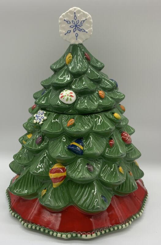 Temptations by Tara Christmas Tree Cookie Jar Holiday Kitchen Decor