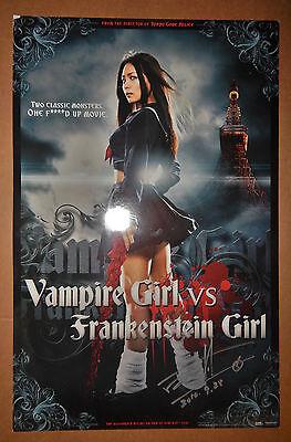 Yoshihiro Nishimura Autographed Vampire Girl vs Frankenstein Girl Movie Poster