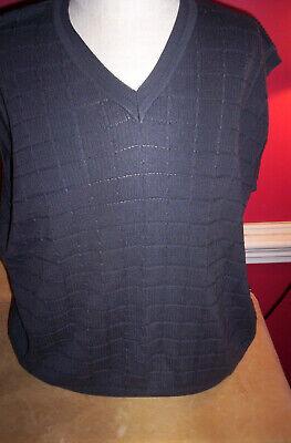 Plaid Sweater Vest (New Ping Sweater Vest XL Grey V Neck 100% Cotton Subtle Plaid Fabric)