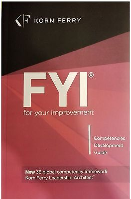 NEW SEALED FYI® for Your Improvement - Competencies Development Guide Korn Ferry