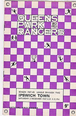 QUEENS PARK RANGERS V IPSWICH TOWN 2ND DIVISION 2/12/67