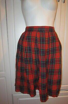 Red Plaid Schoolgirl Skirt (Women's White Stag Scottish Red , Green Multi Plaid Schoolgirl Skirt. Size)