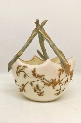 19th c. American Belleek Willets Woodland Pattern Aesthetic Movement Bowl Rare!