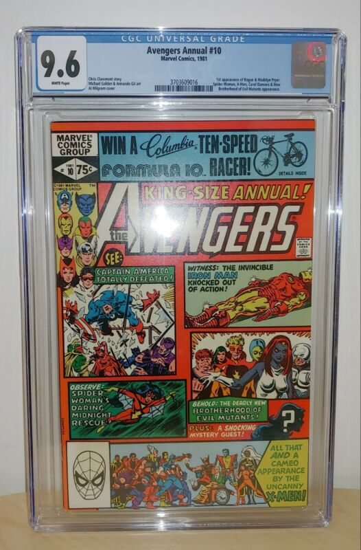 Avengers Annual #10 - CGC 9.6 White Pages - 1st Rogue and Madelyn Pryor
