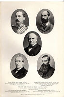 Boer War Portraits - Lanyon, Colley, Derby, Etc - From The Times History (1900) -  - ebay.co.uk