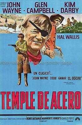 True Grit 1969 John Wayne Argentine one-sheet movie poster