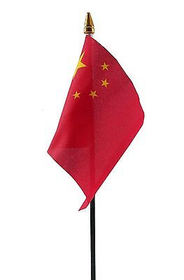 "CHINA SMALL HAND WAVING FLAG 6""X4"" flags CHINESE"