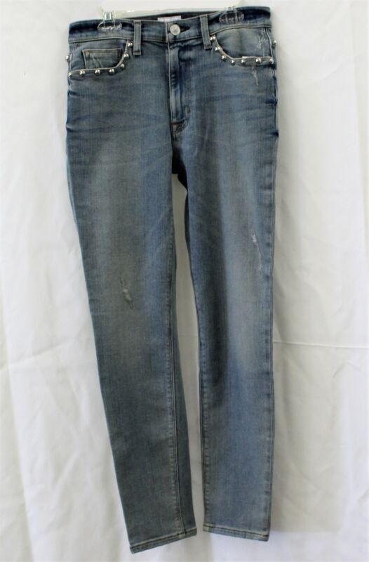 Hudson Barbara High Rise Jeans Crop Super Skinny Size 28