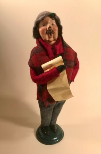 """Byers Choice Caroler """"Traditional Adult"""" Man w/ Sheet Music 1999 LE #43/100"""