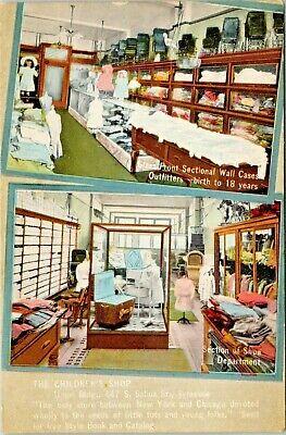 Syracuse New York~Children's Shop~Baby Department~Shoe Dept Interior~Store~1911 (Kids Stores New York)