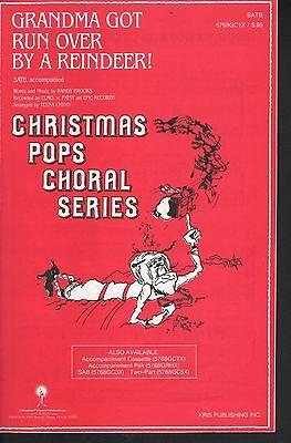 Grandma Got Run Over By A Reindeer 1984 SATB - Christmas Sheet Music