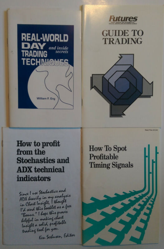 4 FUTURES BOOKLETS: DAY TRADING, GUIDE TO TRADING, SPOTTING PROFIT SIGNALS, ETC