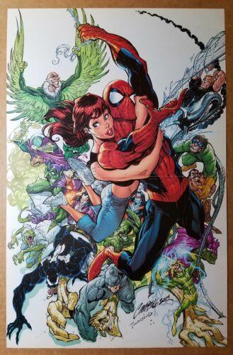 Amazing Spider-Man 500 Mary Jane Villains Marvel Comics Poster J Scott Campbell