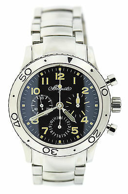 Breguet Type XX Transatlantique Chronograph Stainless Steel Watch 3820