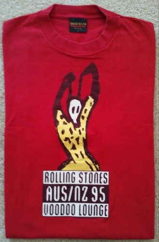 Rare ROLLING STONES Voodoo Lounge 95 Aus NZ Tour L t-shirt Brockum single stitch