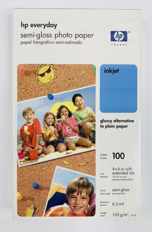HP Photo Paper 4 x 6, Everyday Semi-gloss 100 Sheets Sealed (Papel Fotografico)
