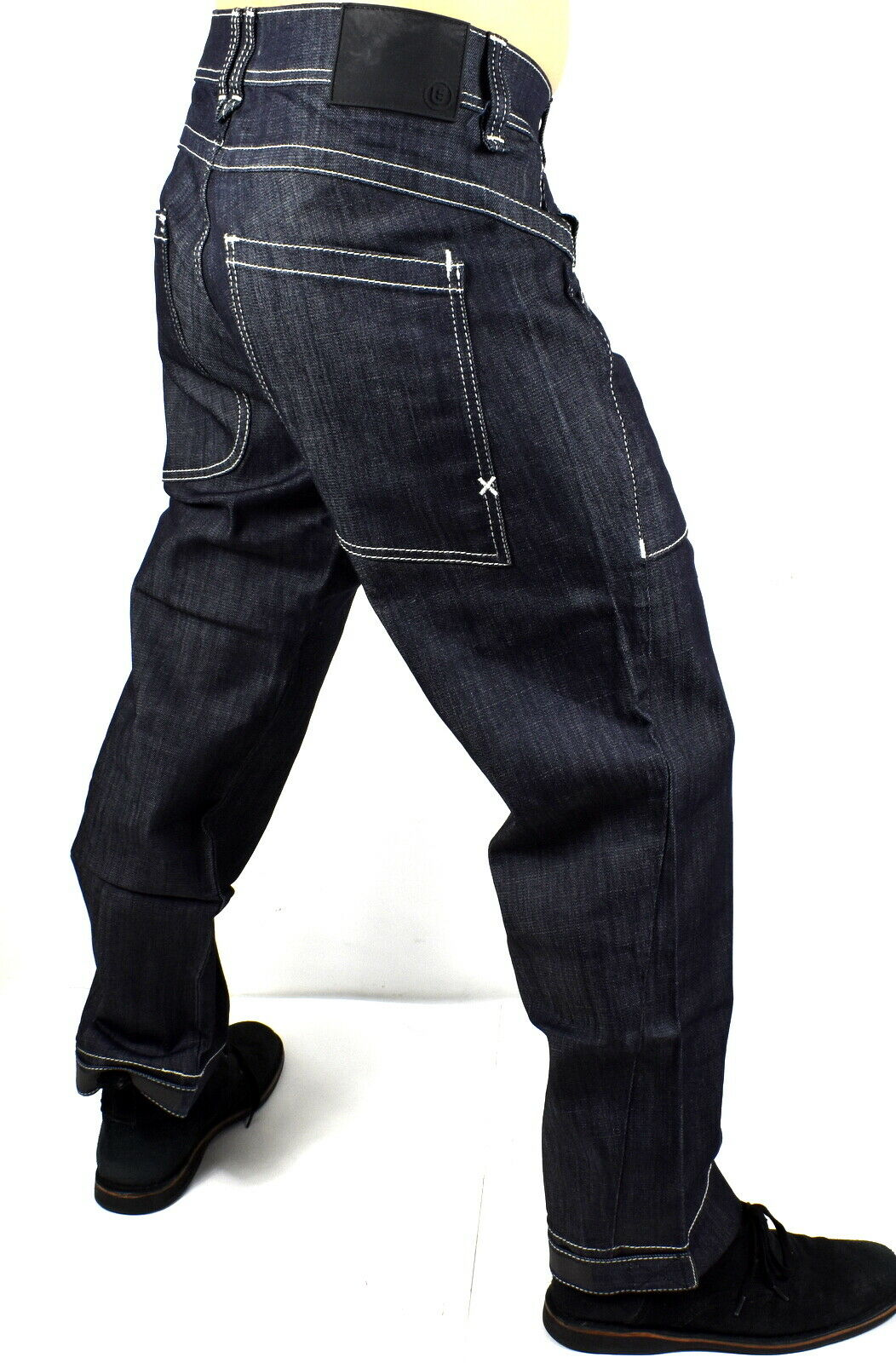 True Religion $299 Men's Urban Baggy Wide Leg Raw Denim Jean