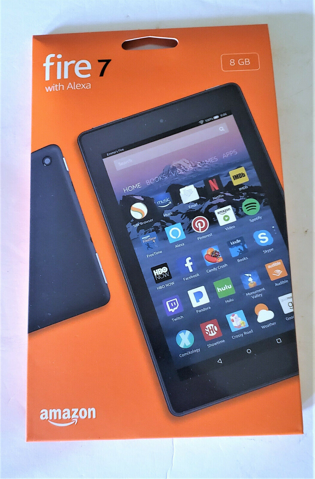 """Amazon Fire7 Tablet E-Reader with Alexa 7"""" Display 8 GB Blac"""