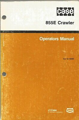 Case 855e Crawler Loader Tractor Operators Manual