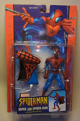 Marvel Comics Toy Biz Action Figur Super Jab Spiderman 2004 OVP