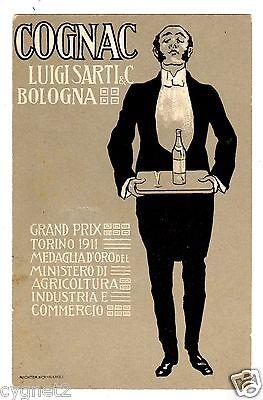 (POSTCARD ITALIAN COGNAC LUIGI SARTI BOLOGNA 1911)