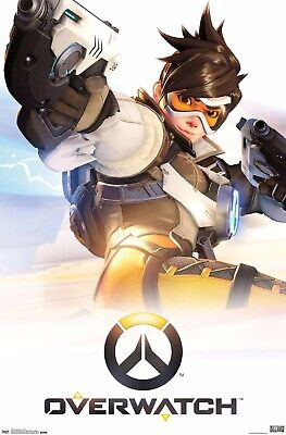 Overwatch Poster 22x34 RP4881 New TRACER Videogame Switch Xbox One PS4 Artwork