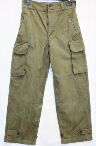Genuine Vintage French Army M47 Cargo Pants /Trousers W30 L43