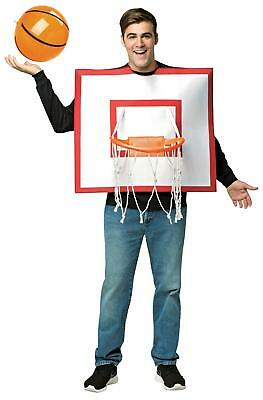 ADULT BASKETBALL HOOP WITH BALL SET SPORTS FUN COSTUME DRESS GC3602