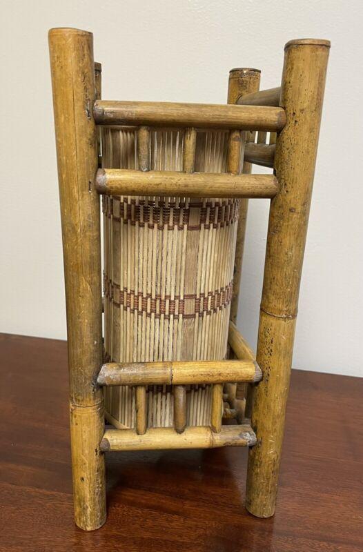 Vintage Tiki Bamboo/Rattan Lamp