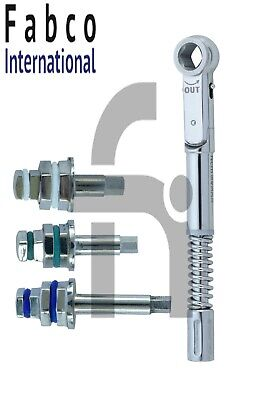 Universal Dental Implant Torque Wrench 10-50 Ncm With Hex Drivers 2.42mm
