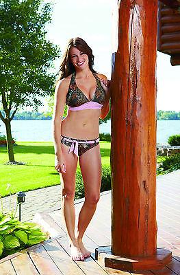 Mossy Oak Camo Swimwear, Swimsuit Bikini Top W Pink Belt ...